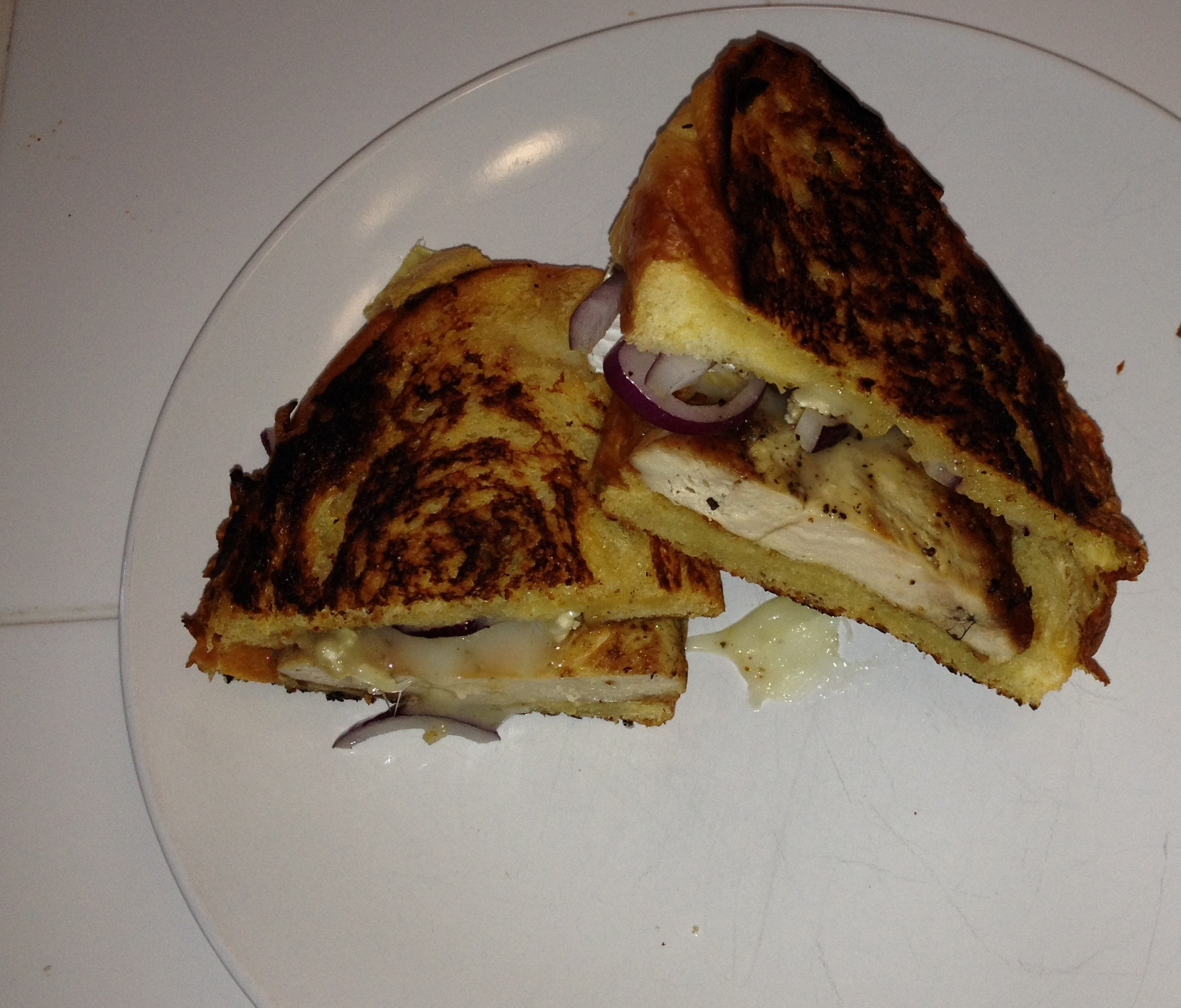 Pheasant grilled cheese